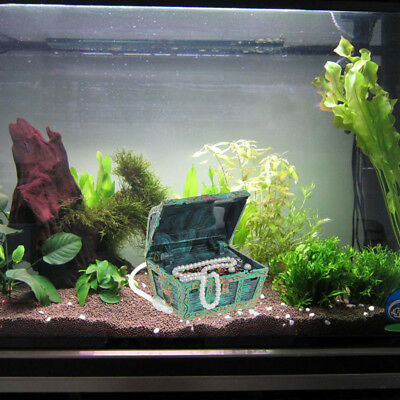 Aquarium Ornament Air Action Treasure Chest Spectra Bubble Fish Tank Decoration