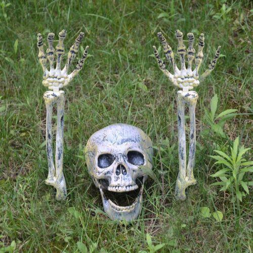 Halloween Garden Decor Dead Skull Horror Graveyard Props Kids Frighten Trick