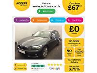 GREY BMW 116d Sport 2016 5 DOOR Manual 78MPG FROM £67 PER WEEK!