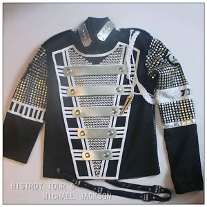 MICHAEL-JACKSON-MJ-History-MTV-Teaser-Military-Jacket-Free-Arm-brace