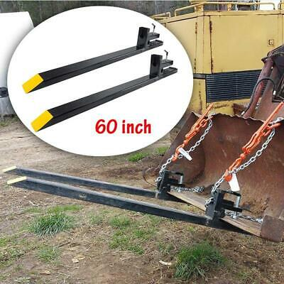 60 Hd Large Capacity Clamp On Pallet Forks Loader Bucket Skid Steer Tractor Us