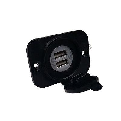 DOUBLE USB DC POWER SOCKET PHONE CHARGER - BOAT, TRUCK, CARAVAN