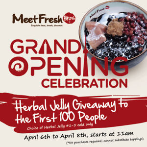 100 Free Herbal Jelly Grand Opening Event!