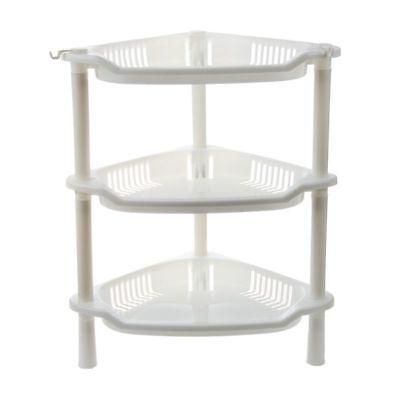 3 Tier Plastic Corner Shelf Organizer Cabinet Bathroom Kitchen Sundries Sto - Plastic Corner