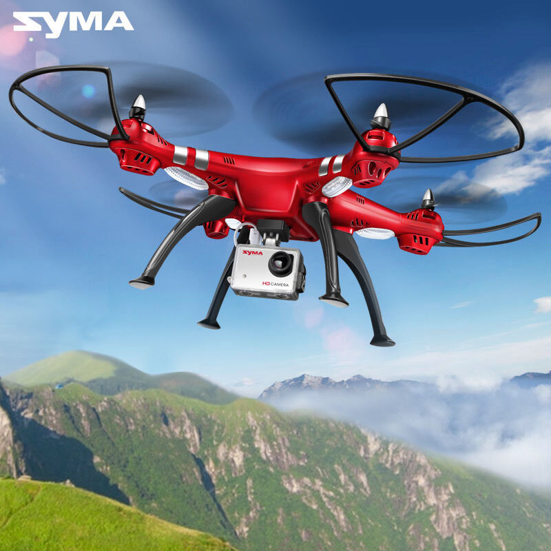 Syma X8HG RC Drone 4CH FPV Gyro Quadcopter 8MP HD Camera UFO Helicopter Red UAV