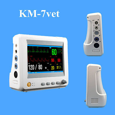 Km-7vet Small Veterinary Multi-parameter Patient Monitor 7 Animal Accessories