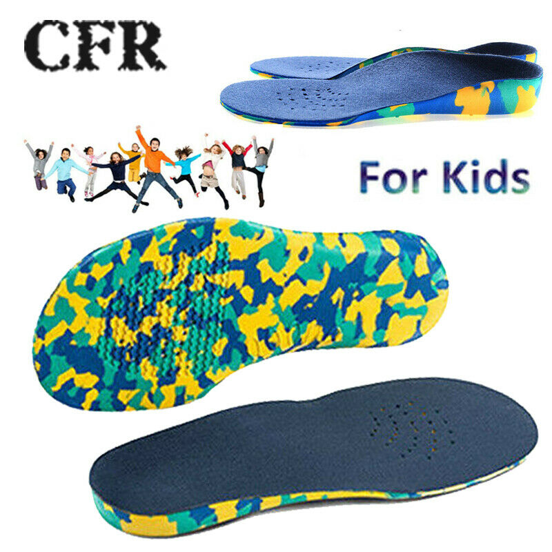 Kids Orthotic Arch Support Shoe Insoles Cushioning Plantar F