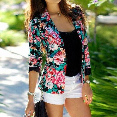 Women Fashion Summer Slim Casual Business Button Blazer Suit Jacket Coat Outwear