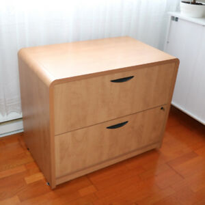 Deluxe Wood Lateral Filling Cabinet  - 2 Drawers