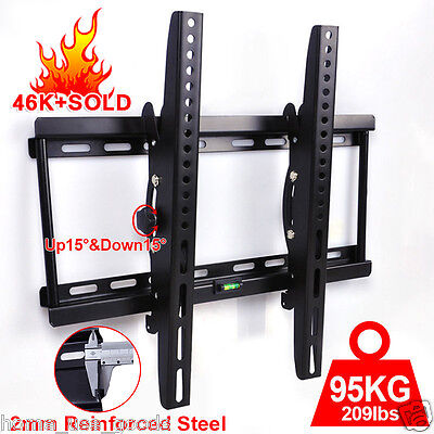 TV Wall Mount Bracket Tilt 32 40 42 46 48 50 55 Plasma LCD LED FLAT Samsung VESA