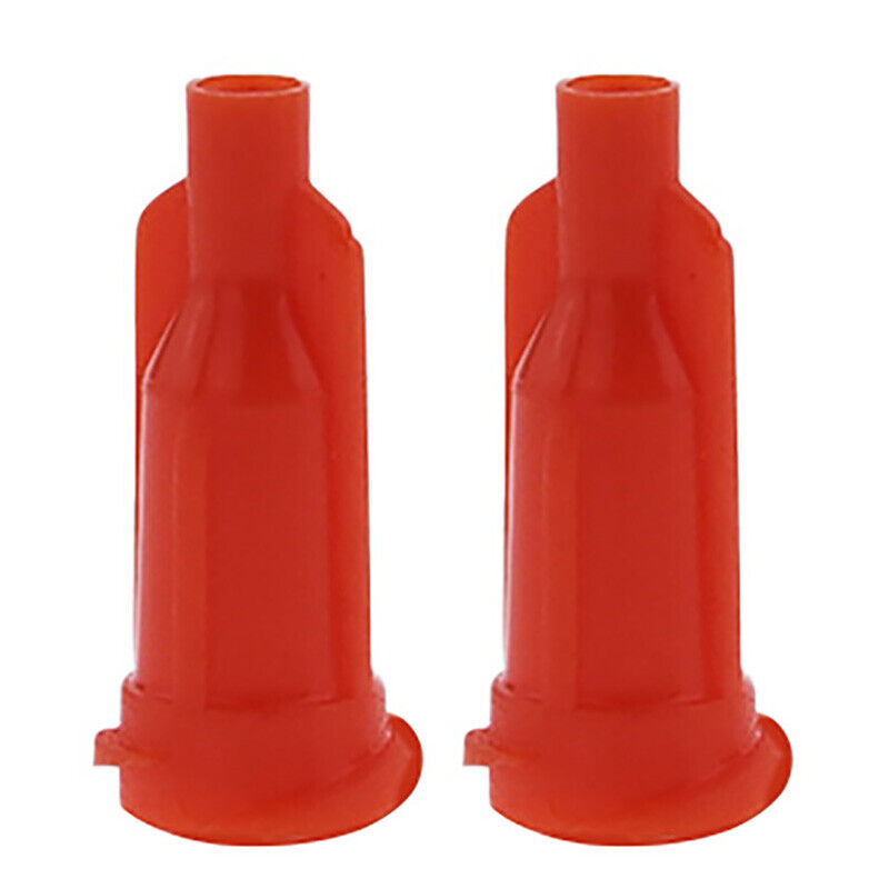 Glue Dispensing Syringe Tip Orange Cap , Pack of 10000 , UPS Free Shipping