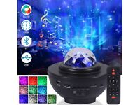 Romantic Colorful Starry Night Light Projector Remote Control Projector Lamp with BT Music Speaker
