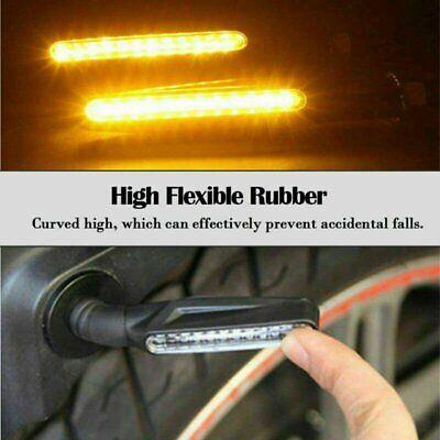 2x Universal Motorcycle 12 LED Amber Turn Bike Signal Indicators Blinker Lights eBay Motors