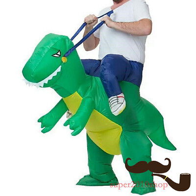 Dinosaur Inflatable Costume Suit Dino Rider Funny Unisex Party Adult Fancy Dress (Adult Dino Costume)