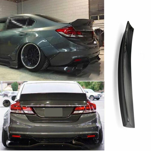 For Honda Civic 9th 2012-2015 Carbon Fiber FB Style Rear Boot Spoiler Wing Flap