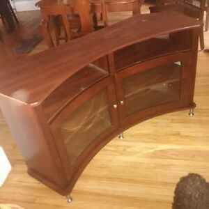 solid wood TV audio stand cabinet