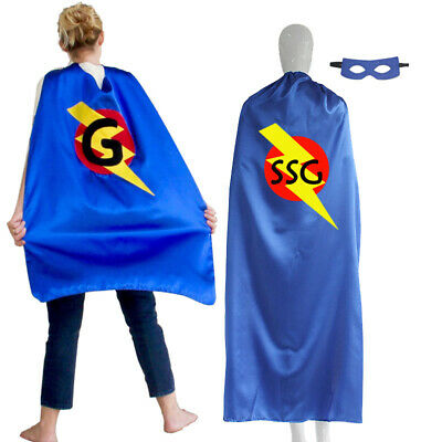 Personalized Initial Adult Superhero Cape Lightning Bolt Hero Cape Costume - Personalized Superhero Cape