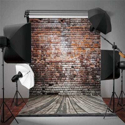 5X7FT Retro Brick Wall Wooden Floor Vinyl Photography Backdrop Background Props