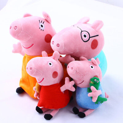4Pcs Peppa Pig Family Stuffed Animal Toy 12  Daddy Mommy 8  Children Plush Set