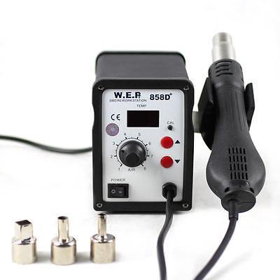 Digital Stazione di rilavorazione pistola ad aria calda saldatura SMD WEP 858D+