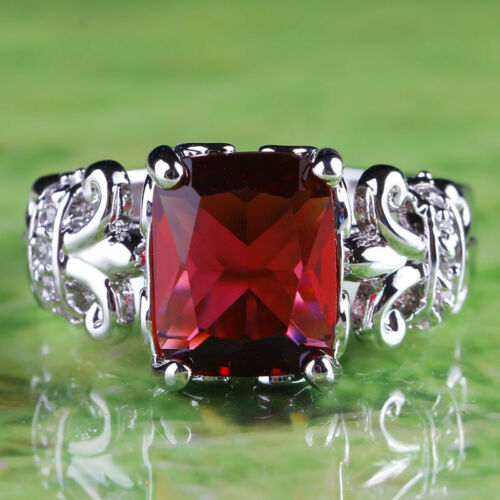 Ruby-Spinel-White-Topaz-Gems-Silver-Ring-Size-6-7-8-9-10-11-Free-Ship