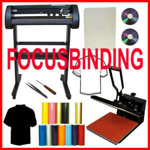 "15x15 Heat Press,24"" 500g Metal Vinyl Cutter,Printer CISS Ink PK"