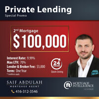 ⭐$100,000⭐ 2nd Mortgage - Private Lending Loan - Special Promo