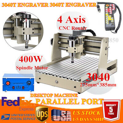 3 Axis 400w Cnc 3040z Router Engraver Engraving Milling Machine Cutterhandwheel