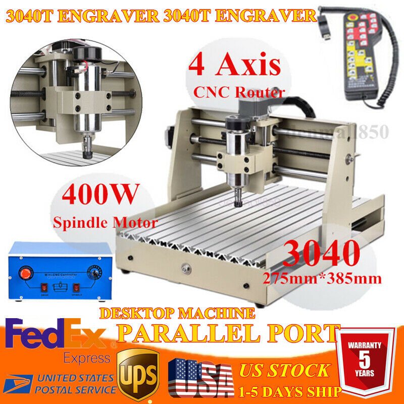 3 AXIS 3040 CNC DIY Router Engraver Milling Carving Machine + Spindle Controller