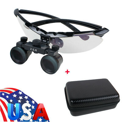 Light-weight Factory Dental Surgical Medical Binocular Loupes 2.5x Glass Case