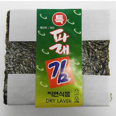 Korean Premium Parae Seaweed Dried Yaki Sushi Nori Raw Gimbap Roll 100 Sheets