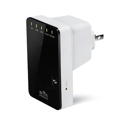 Wifi Signal Repeater Booster Wireless Cordless N G Network 300Mbps WPS Router