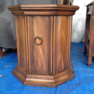 ***SOLD*** Solid wood end table with inside storage