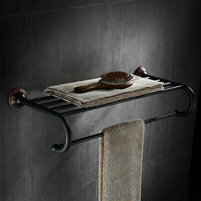 Classic Towel Rack (Classic Solid Brass Wall-Mount Bathroom Towel Rack & Towel Bar Bathroom Shelf )