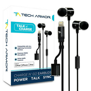 Tech Armor [Apple MFi Certified] 8-pin Lightning Earbuds