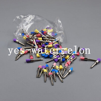 Dental Colorful Nylon Latch Flat Disposable Polisher Prophylaxis Brushes Flat