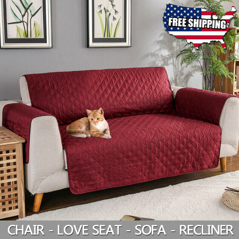 US 1/2/3/4 Seat Sofa Cover Couch Slipcover Pet Dog Kids Mat