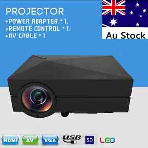 NEW HD 1000LM LED VGA Projector movie Home Cinema USB AV SD HDMI Noble Park Greater Dandenong Preview