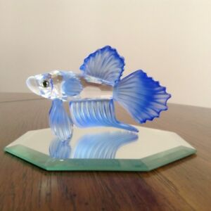 Swarovski Crystal - Siamese Blue Fighting Fish