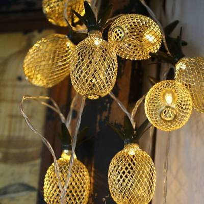Battery Operated Pineapple LED String Light Lantern Waterproof Outdoor Home Lamp