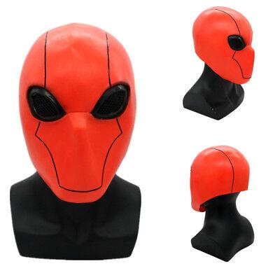 US SHIP The Dark Knight Batman Red Hood Robin Mask Latex Cosplay Prop Halloween