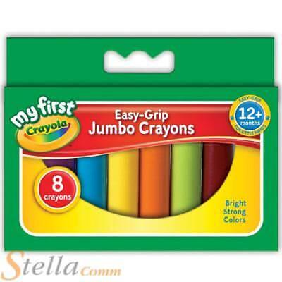 Crayola My First Jumbo Wax Crayons Childrens Easy Grip Chunky Colouring Art