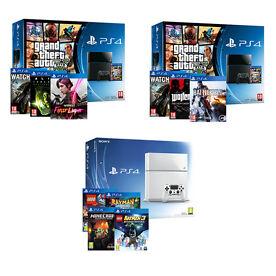 PS4 Console Bundles - 3 Options Available