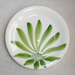 4 Crate&Barrel CERAMICA Palm Garden Dinner Buffet PLATES
