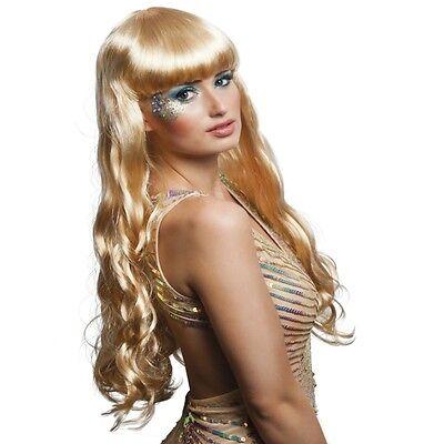 Lange Haare Junge Kostüme (Langhaar Perücke Meerjungfrau blond Kostüm Nixe Show Phantasie Glamour  #751)