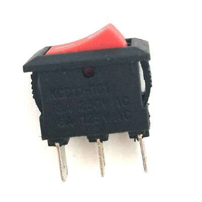 Industec Mini 10 X 15mm - Rocker Switch Maintained 2 Pos 3 Pin 12v Spdt Red Boat