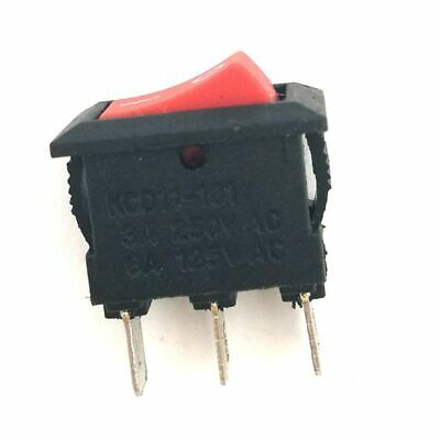Mini 10mm X 15mm Onoff Rocker Switch 3 Pin 12v 3a 110v 6a 230v 3a Spdt Red Boat