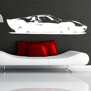 Ford-GT40-Adesivo-Da-Parete-In-Vinile-Decorazione-Per-Camera-Bambini-Garage-c5