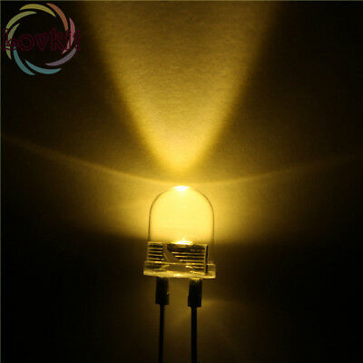 100pcs Superbright 10mm Round Warm White Led Light Lamp Ultra Bright 30000mcd