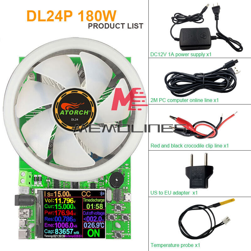 Dl24p Cnc Adjustable Constant Current Discharge Load Aging Detector 180wnew